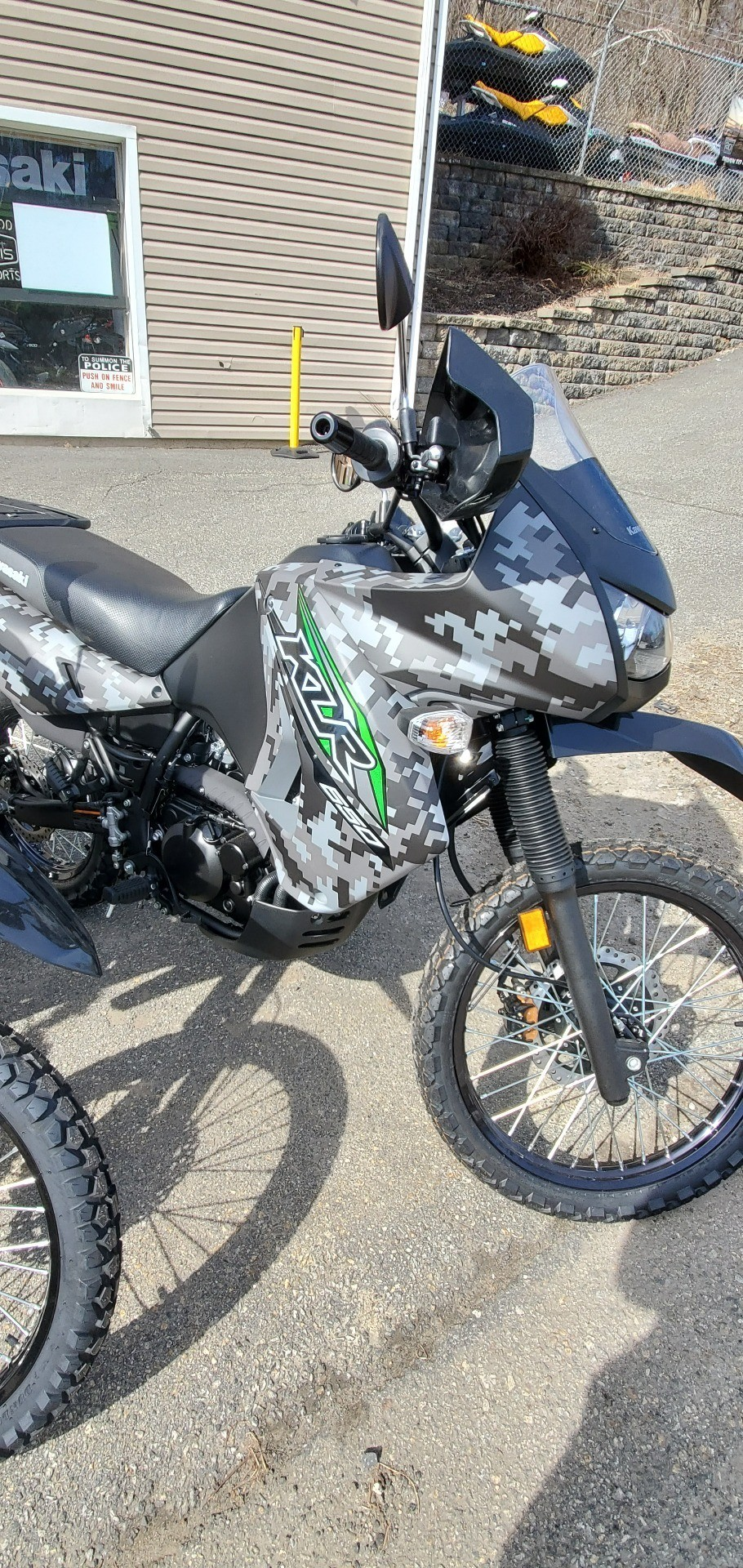 2018 Kawasaki KLR 650 Camo in Ledgewood, New Jersey - Photo 3