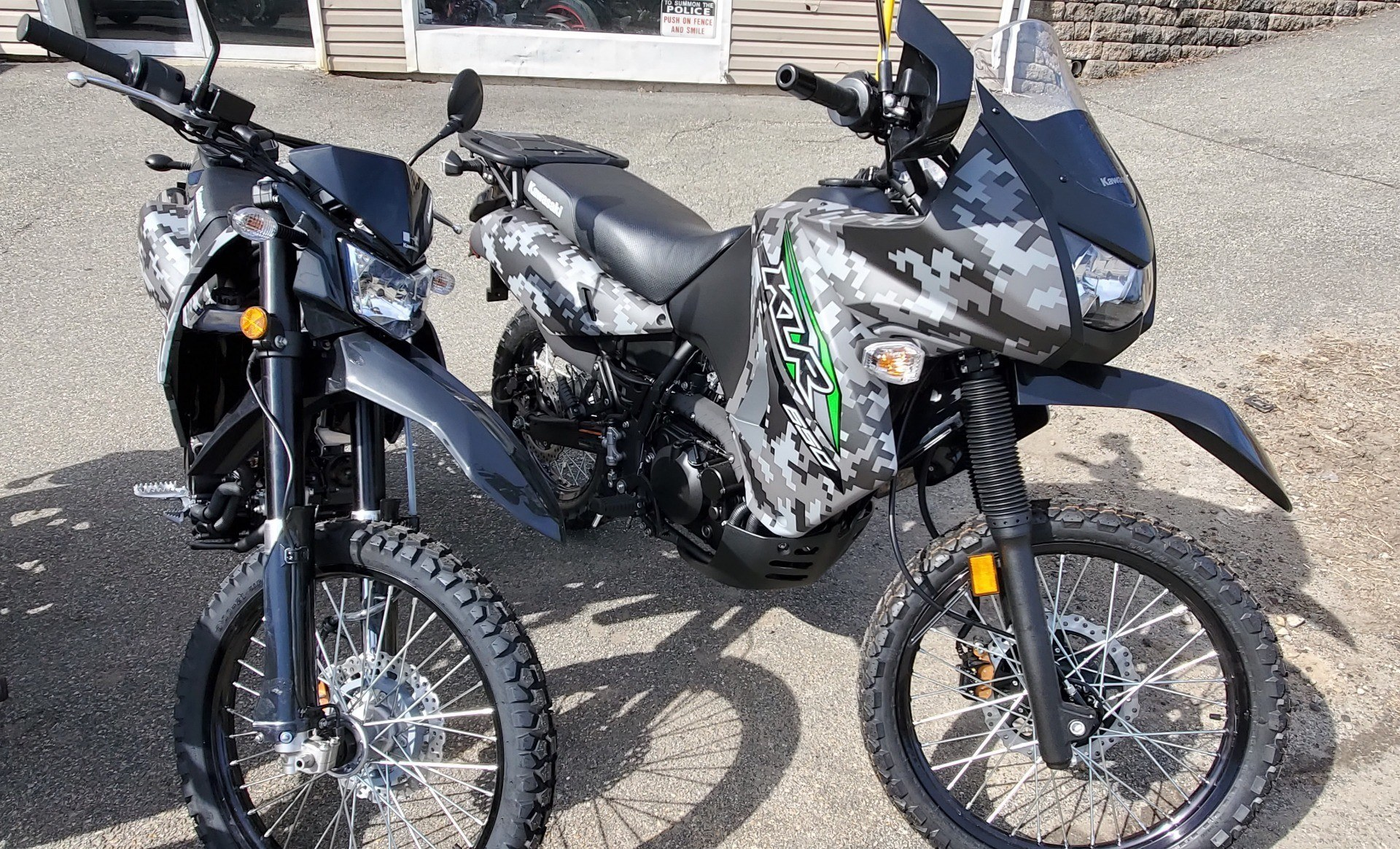 2018 Kawasaki KLR 650 Camo in Ledgewood, New Jersey - Photo 2