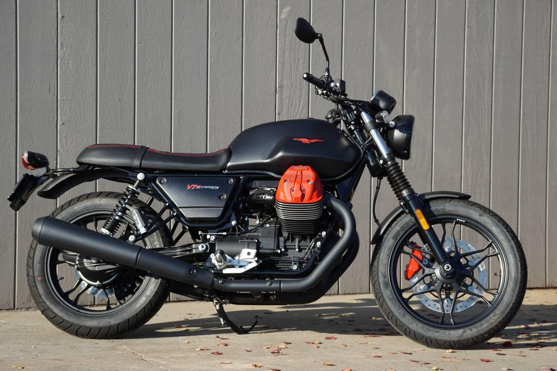 New 2018 Moto Guzzi V7 Iii Carbon Dark Motorcycles In Elk Grove Ca