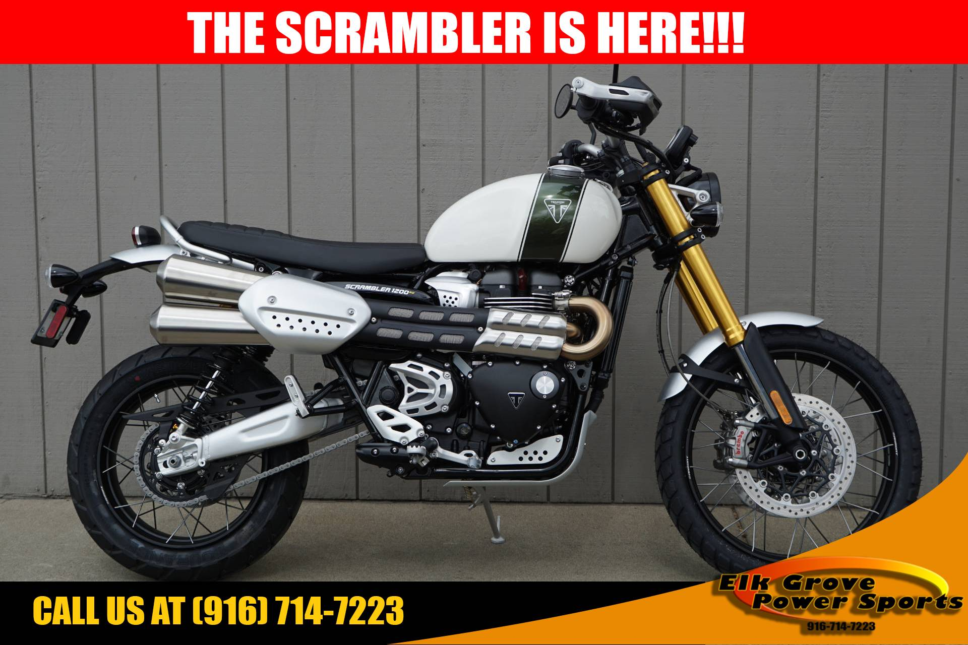 New 2019 Triumph Scrambler 1200 Xe Motorcycles In Elk Grove Ca