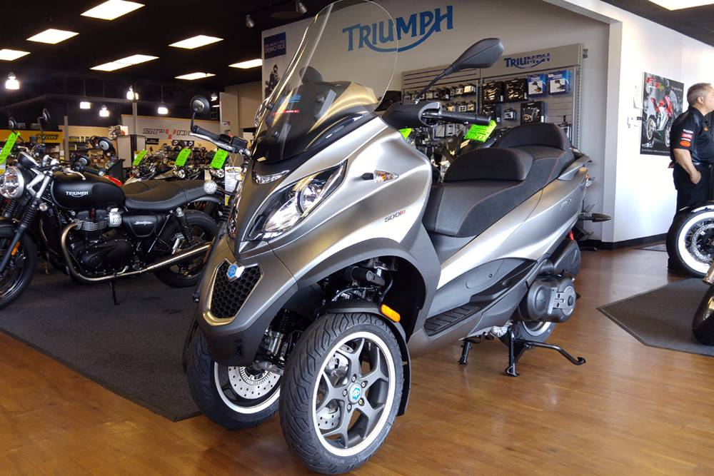 new 2018 piaggio mp3 500 sport abs scooters in elk grove ca stock number demopia000016. Black Bedroom Furniture Sets. Home Design Ideas