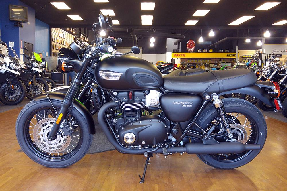 2017 Triumph Bonneville T100 Black 10