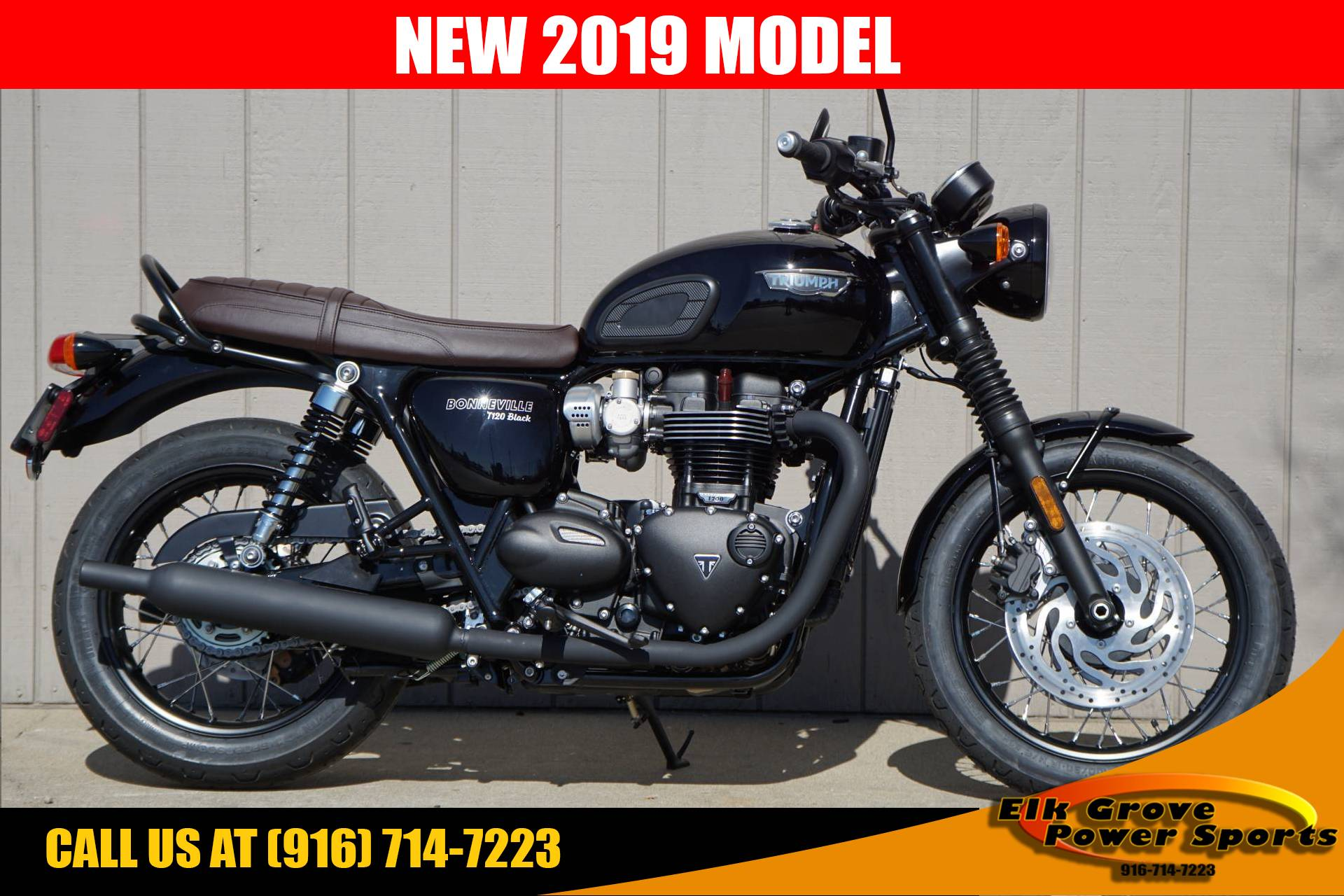 New 2019 Triumph Bonneville T120 Black Motorcycles In Elk Grove Ca