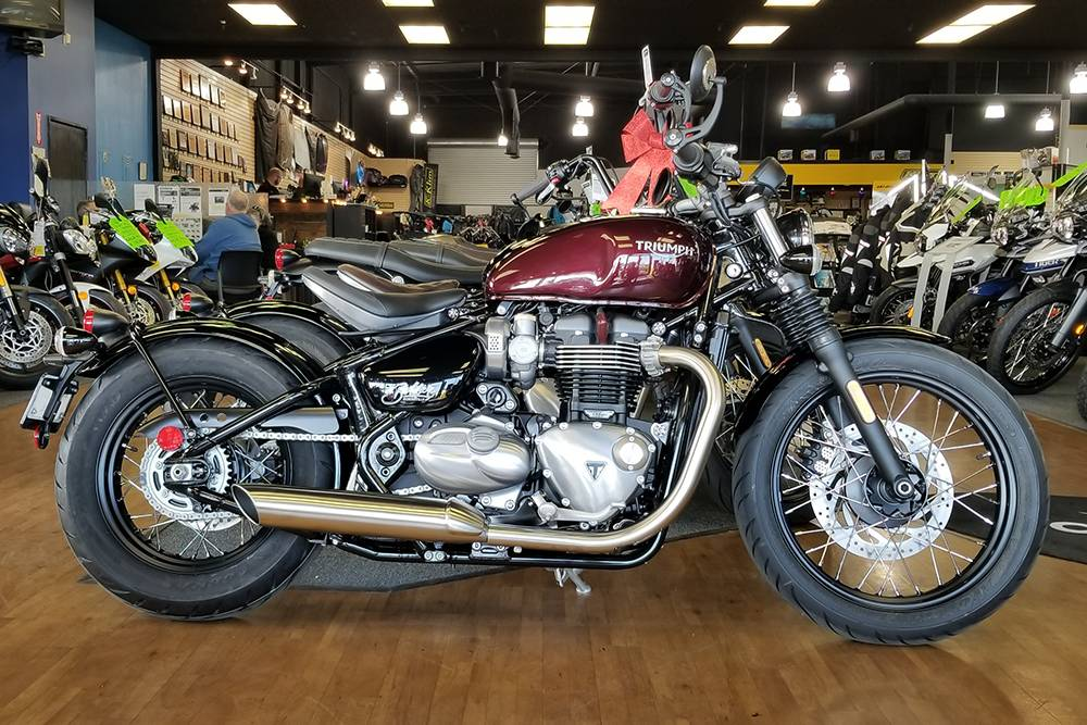 New 2018 Triumph Bonneville Bobber Motorcycles In Elk Grove Ca Stock Number Tri855914