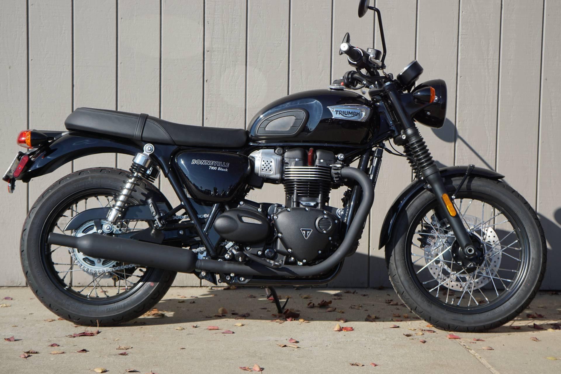 2018 Triumph Bonneville T100 Black for sale 125