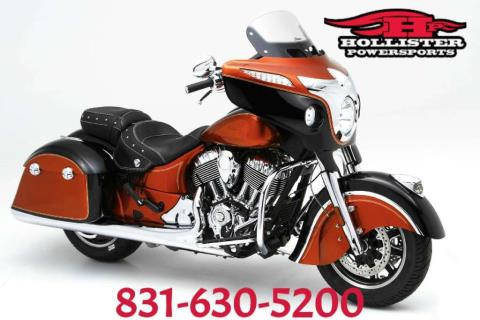 2016 Indian Chieftain® Thunder Black in Hollister, California