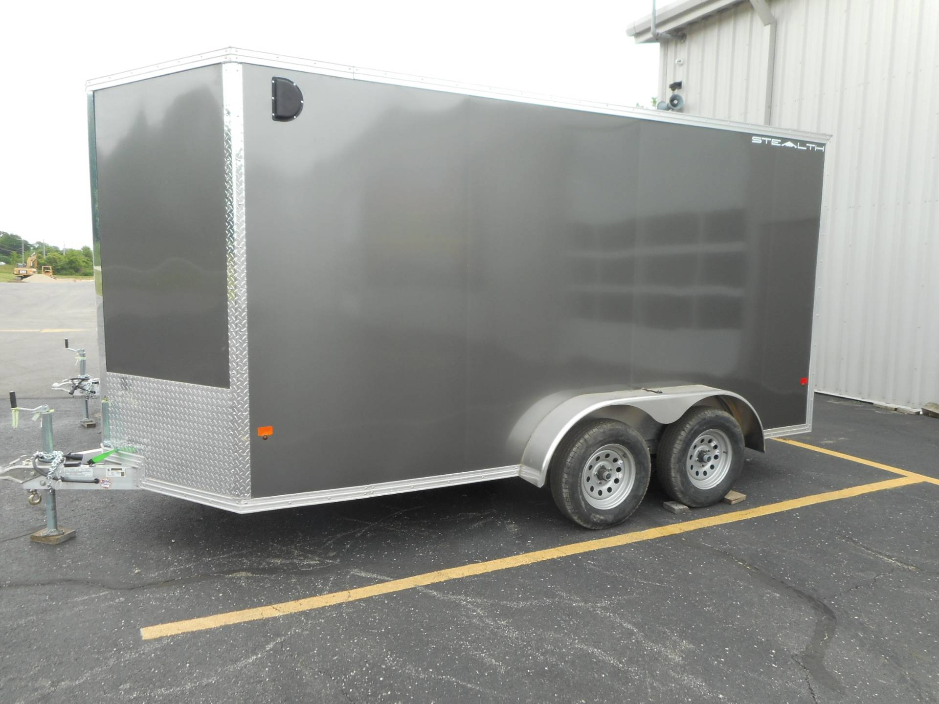 2019 Alcom Trailer 7X14 STEALTH ALUMINUM in Belvidere, Illinois - Photo 2