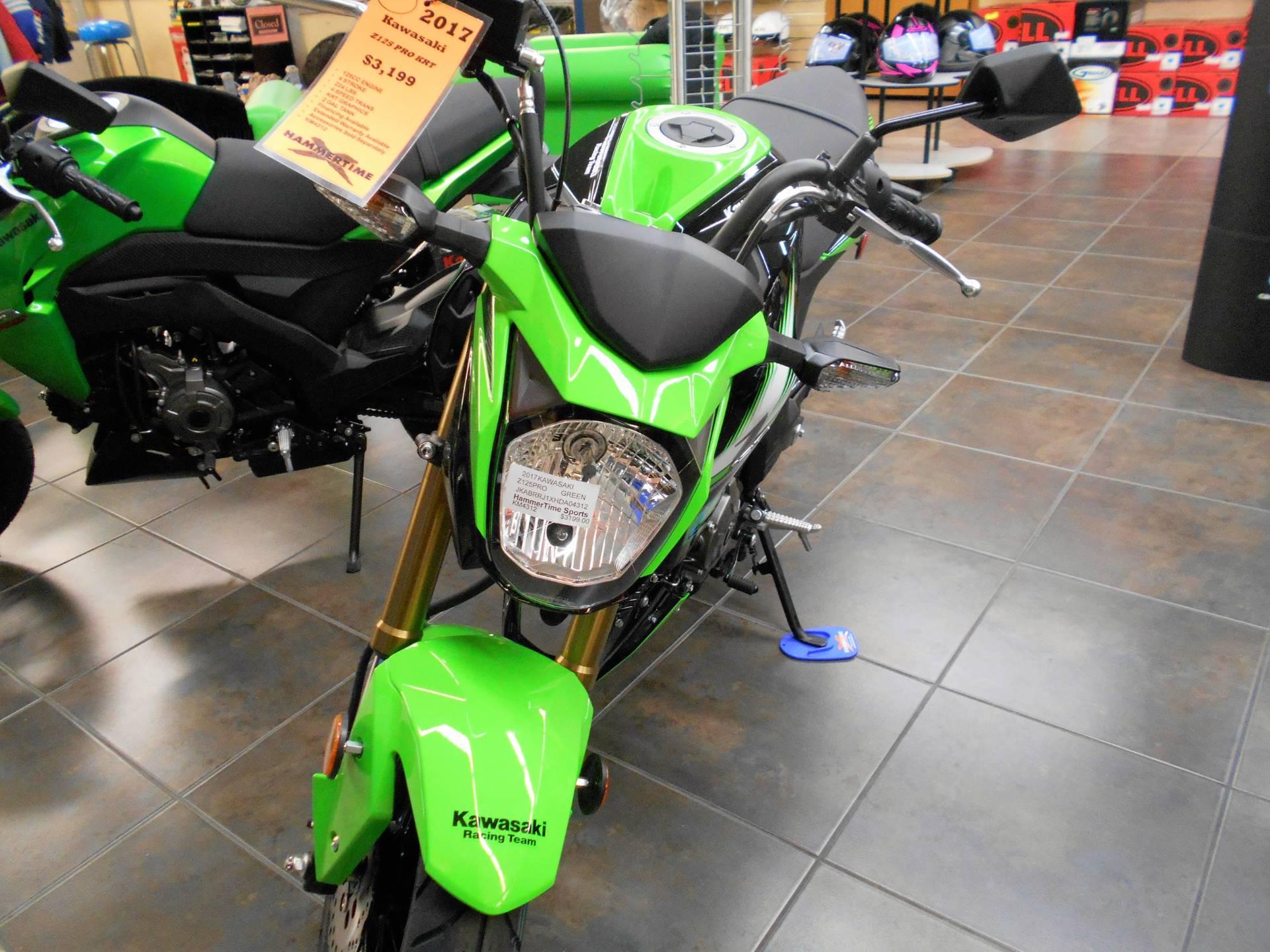 New 2017 Kawasaki Z125 Pro Krt Edition Motorcycles In Belvidere Il