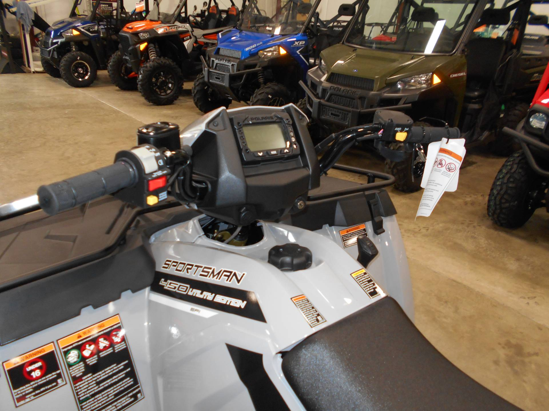 2018 Polaris Sportsman 450 H.O. Utility Edition in Belvidere, Illinois