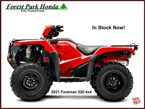 2021 Honda FourTrax Foreman 4x4 in Erie, Pennsylvania