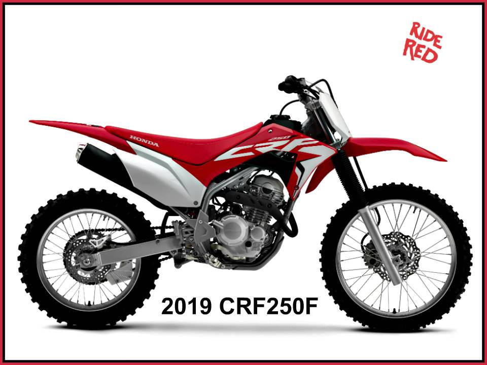 New 2019 Honda Crf250f Motorcycles In Erie Pa Stock Number 0476