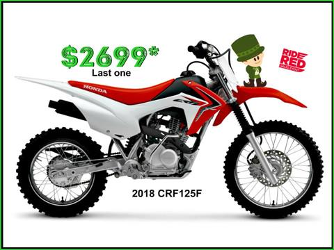 2018 Honda CRF125F in Erie, Pennsylvania - Photo 1
