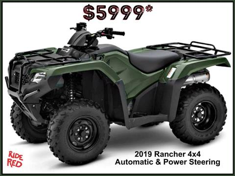 2019 Honda FourTrax Rancher 4x4 DCT EPS in Erie, Pennsylvania