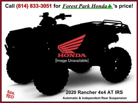 2020 Honda FourTrax Rancher 4x4 Automatic DCT IRS in Erie, Pennsylvania