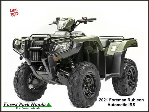 2021 Honda FourTrax Foreman Rubicon 4x4 Automatic DCT in Erie, Pennsylvania
