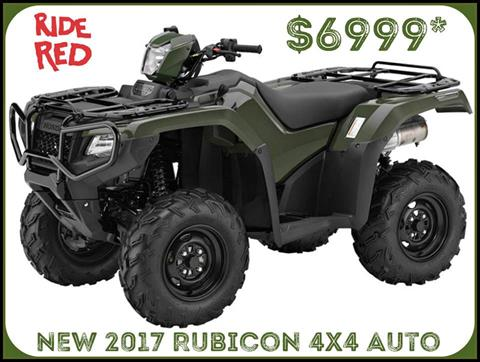 2017 Honda FourTrax Foreman Rubicon 4x4 DCT in Erie, Pennsylvania