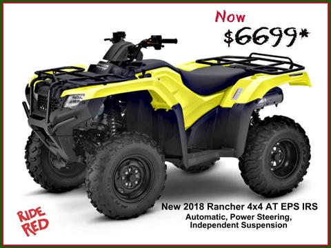 2018 Honda FourTrax Rancher 4x4 DCT IRS EPS in Erie, Pennsylvania