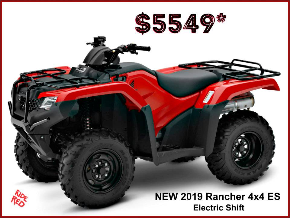 2019 Honda FourTrax Rancher 4x4 ES in Erie, Pennsylvania - Photo 1