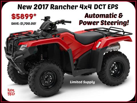 2017 Honda FourTrax Rancher 4x4 DCT EPS in Erie, Pennsylvania