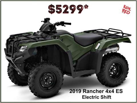 2019 Honda FourTrax Rancher 4x4 ES in Erie, Pennsylvania
