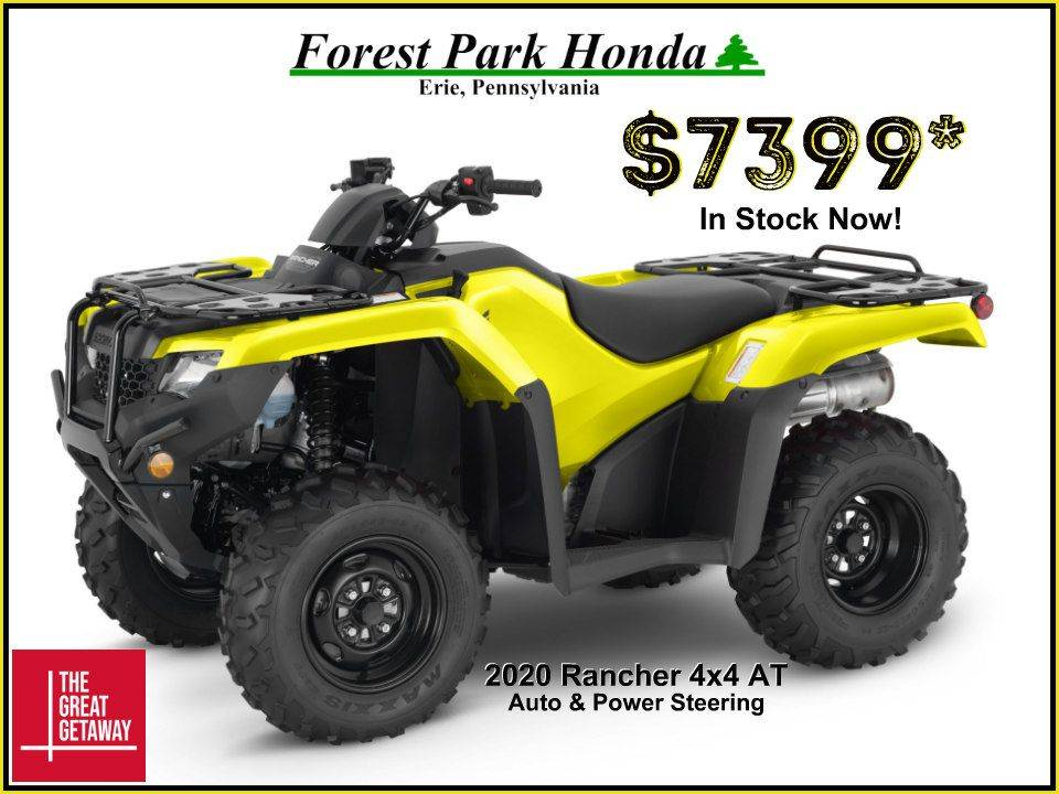 2020 Honda FourTrax Rancher 4x4 Automatic DCT EPS in Erie, Pennsylvania - Photo 1