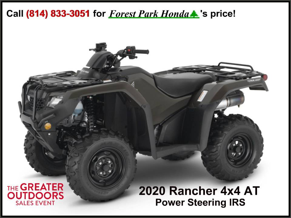 2020 Honda FourTrax Rancher 4x4 Automatic DCT IRS EPS in Erie, Pennsylvania - Photo 1