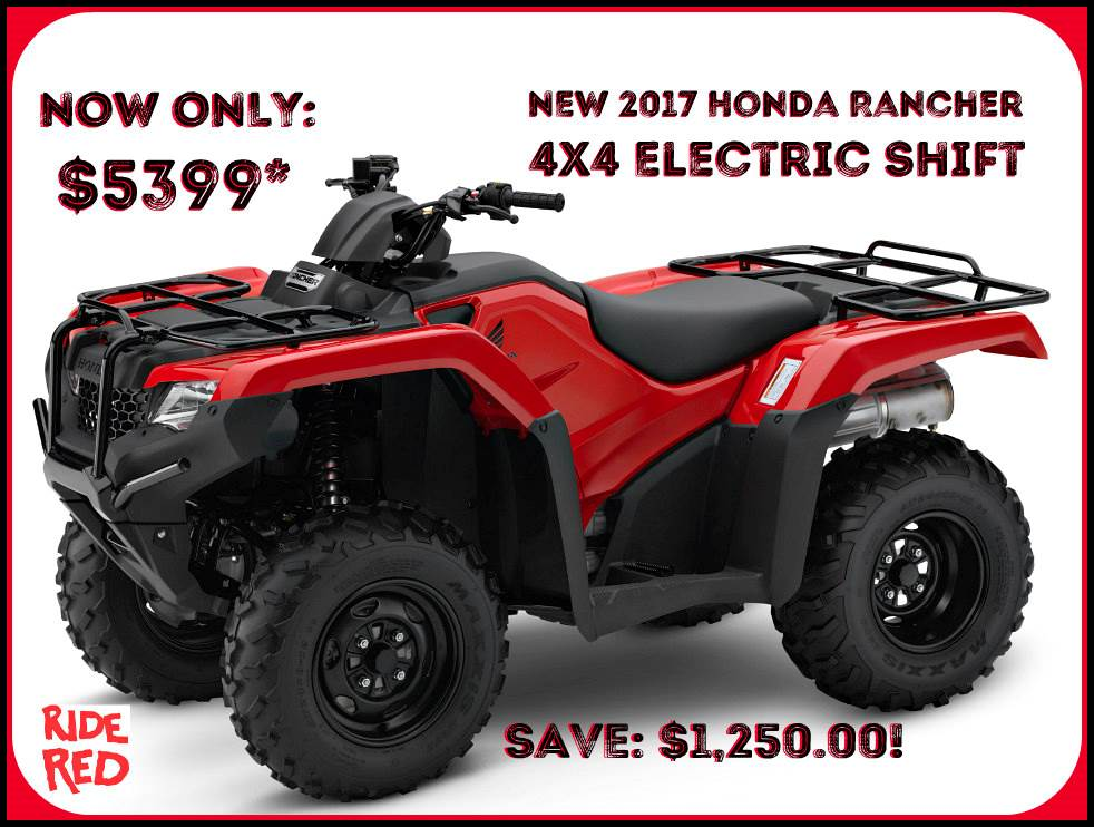 2017 Honda FourTrax Rancher 4x4 ES in Erie, Pennsylvania