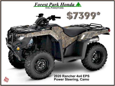 2020 Honda FourTrax Rancher 4x4 EPS in Erie, Pennsylvania
