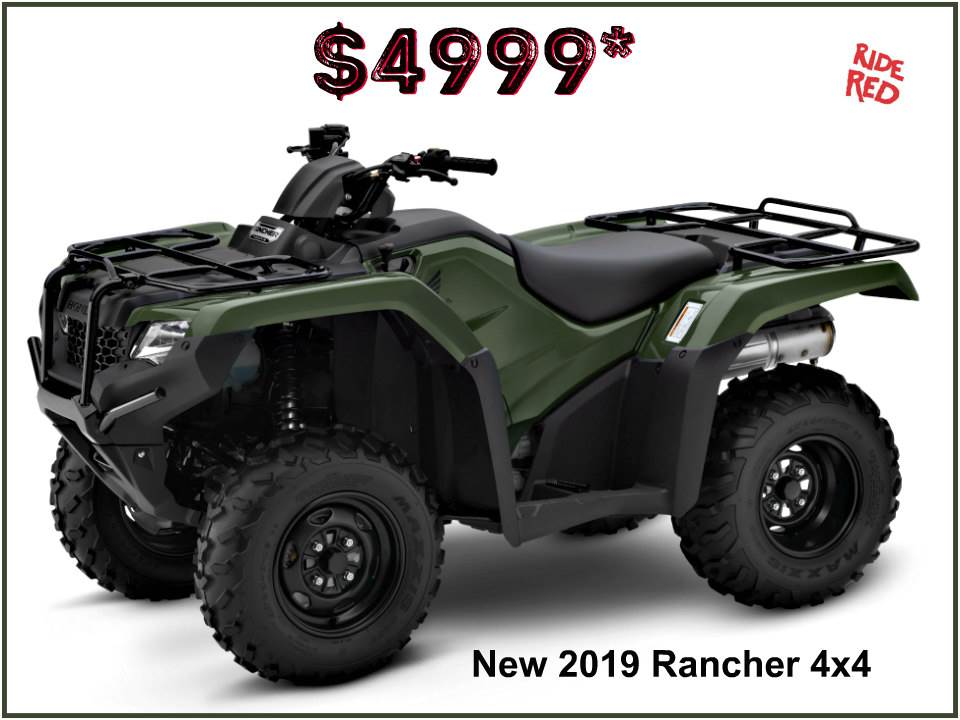 2019 Honda FourTrax Rancher 4x4 in Erie, Pennsylvania - Photo 1