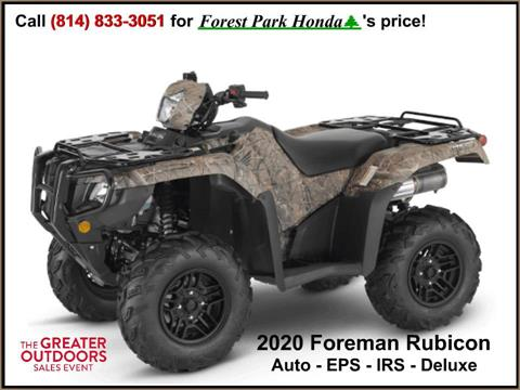 2020 Honda FourTrax Foreman Rubicon 4x4 Automatic DCT EPS Deluxe in Erie, Pennsylvania