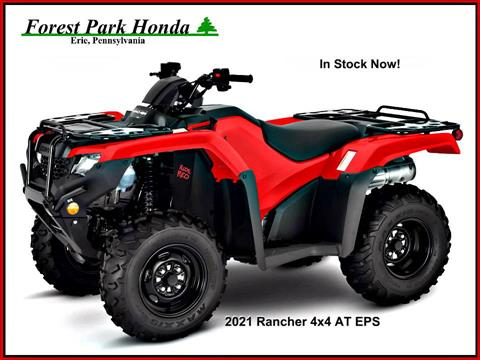 2021 Honda FourTrax Rancher 4x4 Automatic DCT EPS in Erie, Pennsylvania