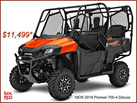 2018 Honda Pioneer 700-4 Deluxe in Erie, Pennsylvania