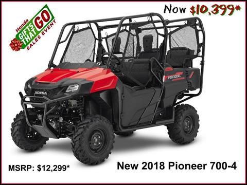 2018 Honda Pioneer 700-4 in Erie, Pennsylvania
