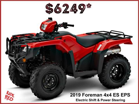2019 Honda FourTrax Foreman 4x4 ES EPS in Erie, Pennsylvania
