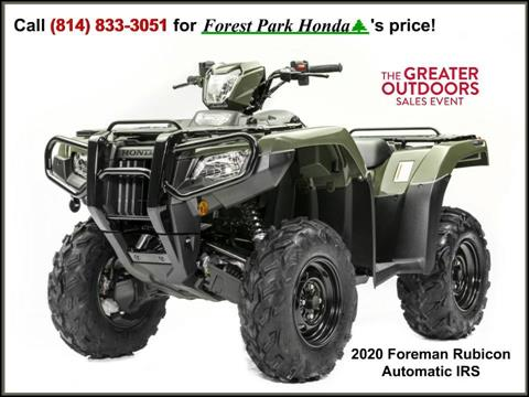 2020 Honda FourTrax Foreman Rubicon 4x4 Automatic DCT in Erie, Pennsylvania