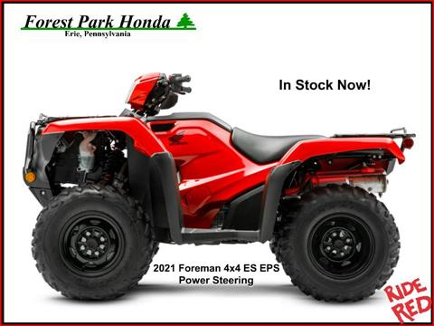 2021 Honda FourTrax Foreman 4x4 ES EPS in Erie, Pennsylvania