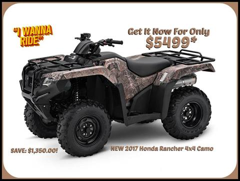 2017 Honda FourTrax Rancher 4x4 in Erie, Pennsylvania