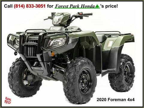 2020 Honda FourTrax Foreman 4x4 in Erie, Pennsylvania