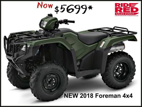 2018 Honda FourTrax Foreman 4x4 in Erie, Pennsylvania