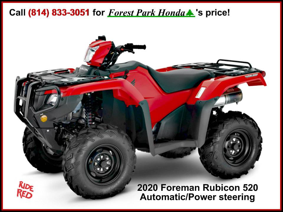 2020 Honda FourTrax Foreman Rubicon 4x4 Automatic DCT EPS in Erie, Pennsylvania - Photo 1