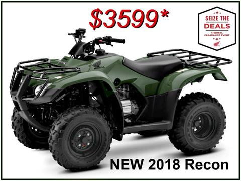 2018 Honda FourTrax Recon in Erie, Pennsylvania