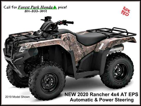 2020 Honda FourTrax Rancher 4x4 Automatic DCT EPS in Erie, Pennsylvania