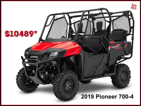 2019 Honda Pioneer 700-4 in Erie, Pennsylvania