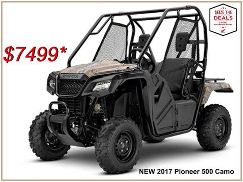 2017 Honda Pioneer 500 in Erie, Pennsylvania