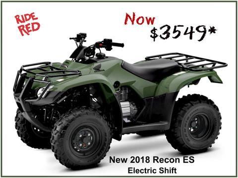 2018 Honda FourTrax Recon ES in Erie, Pennsylvania