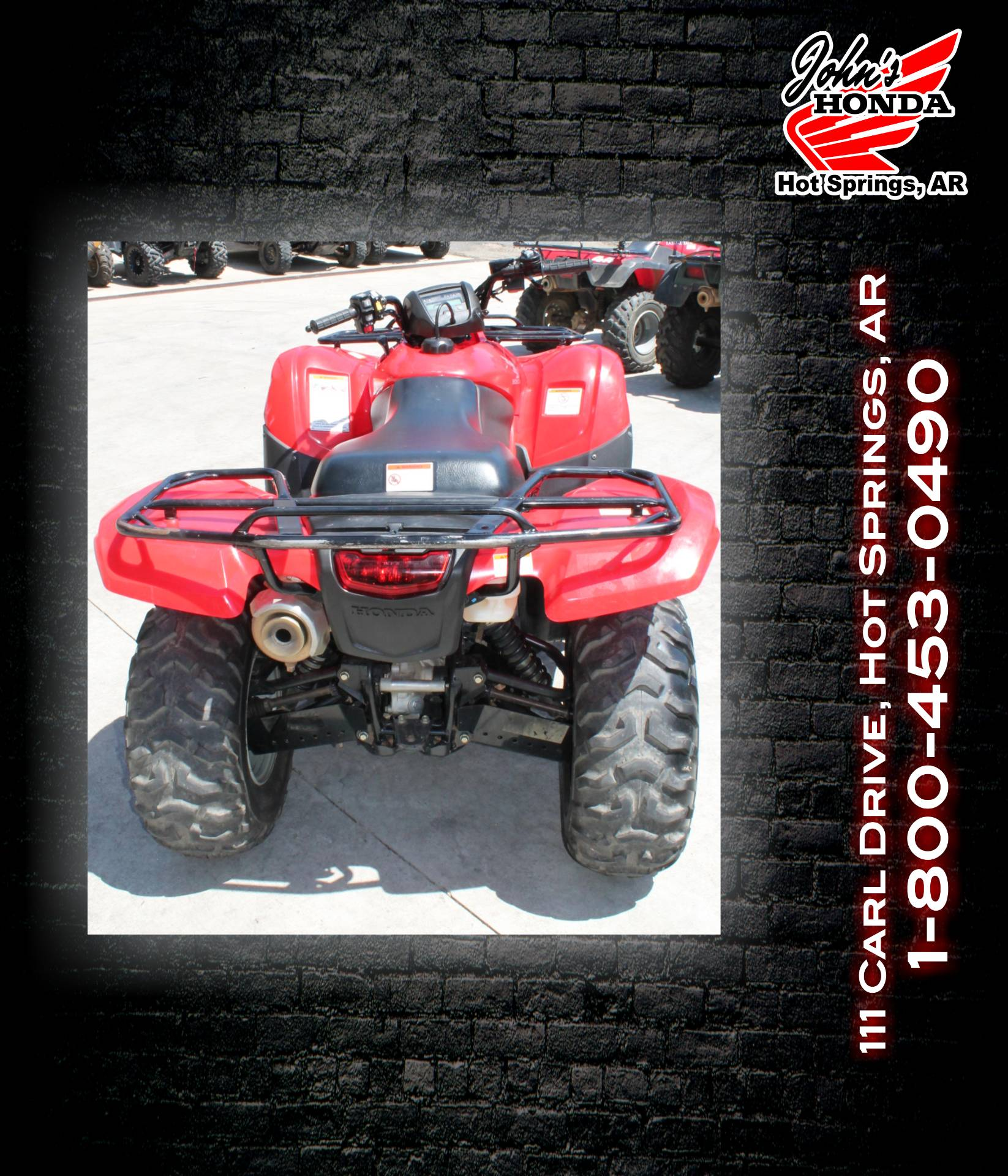 2013 Honda TRX 420FA2 Rancher in Hot Springs National Park, Arkansas