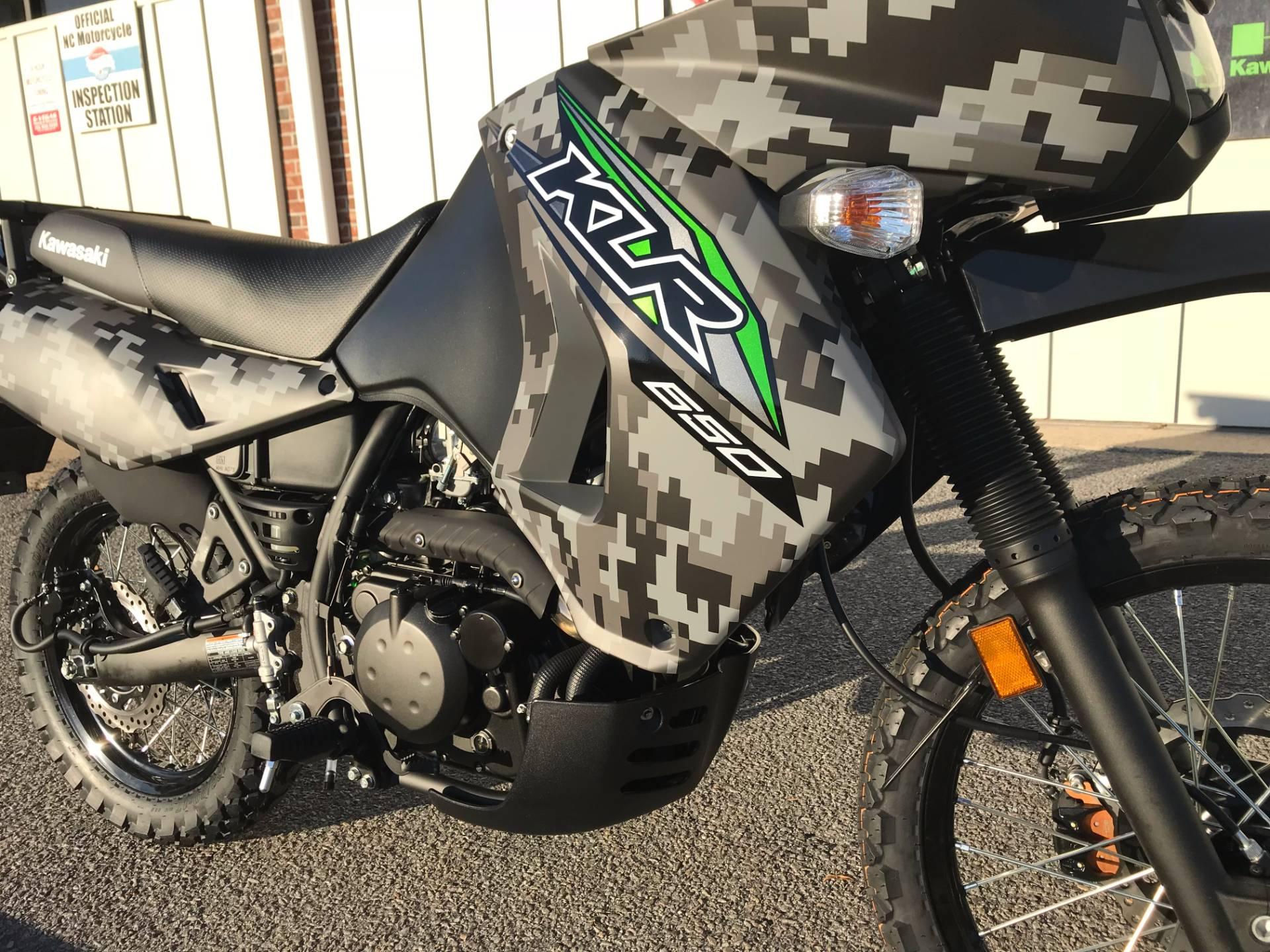 New 2018 Kawasaki KLR 650 Camo Motorcycles in Greenville, NC | Stock ...