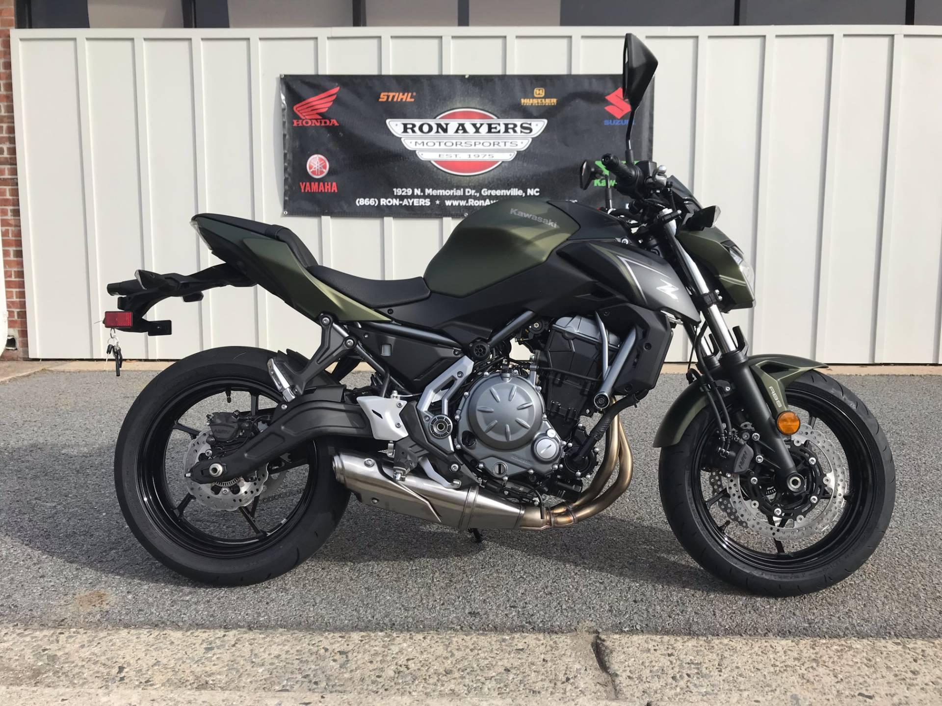 New 2018 Kawasaki Z650 ABS Motorcycles in Greenville NC