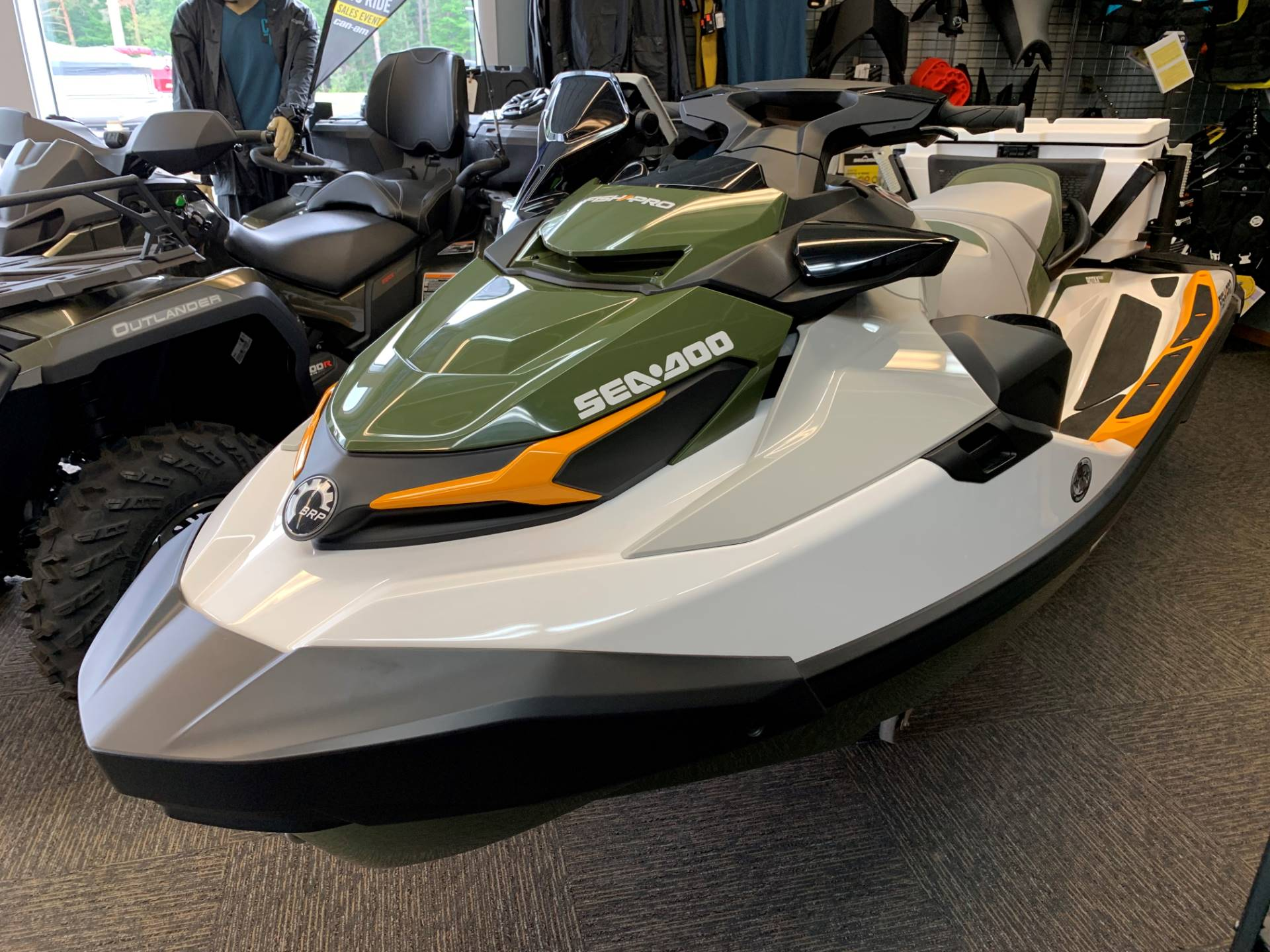 2019 Sea-Doo Fish Pro iBR + Sound System in Woodruff, Wisconsin - Photo 1