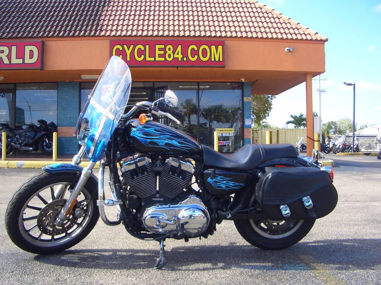 2009 Harley-Davidson Sportster 1200 Custom Vivid Black Motorcycles ...